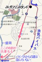 地図:渋民バイパス